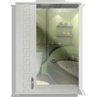Зеркальный шкаф МИКОЛА-М Греция 55 (белый) 4820099526627