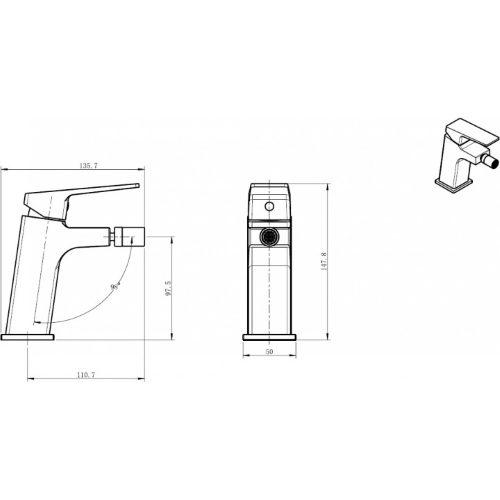 Смеситель для биде KOLLER POOL Neon Cube NC0300
