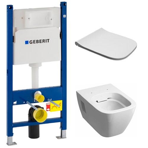 Инсталляция GEBERIT Duofix 458.126.00.1 + унитаз KOLO Modo Remfree L33120000 с сиденьем Slim Soft Close L30115000