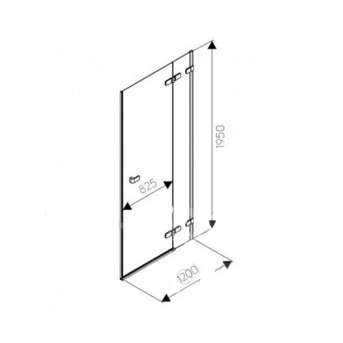 Душевые двери Kolo Next HDRF12222003R