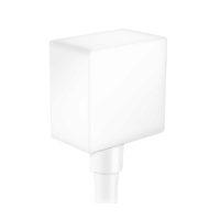 Шланговое подсоединение HANSGROHE FixFit Square с клапаном обратного тока, матовый белый