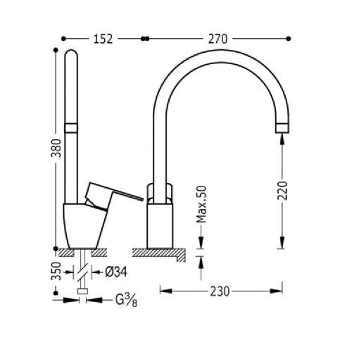 Кухонный смеситель TRES BM 117440