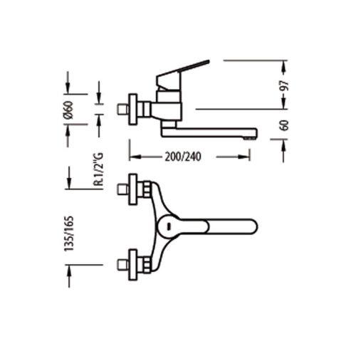 Смеситель для куxни TRES BM 139418