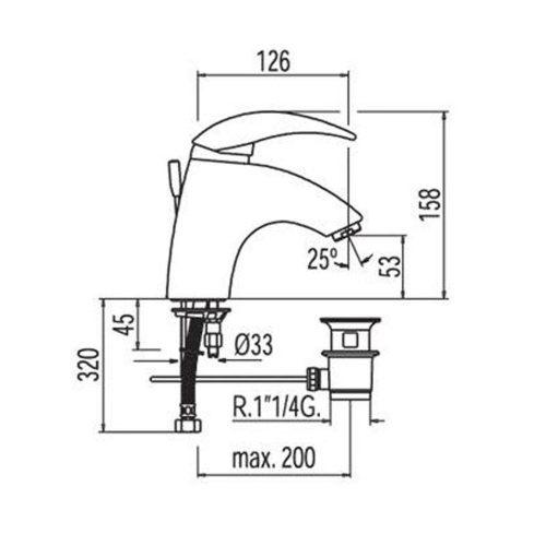 Смеситель для раковины TRES STYL 148103