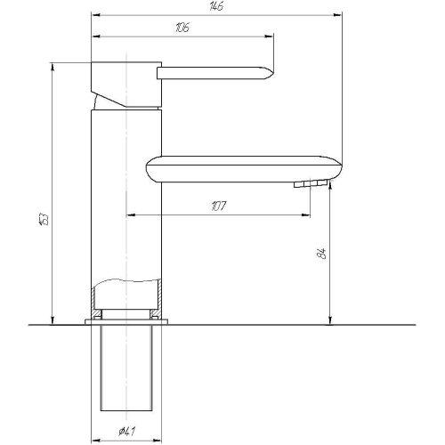 Смеситель для раковины TOPAZ CORSICA-TC 16221-H48
