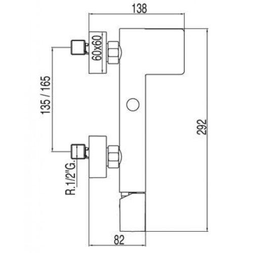 Смеситель для ванны TRES LOFT 20017001
