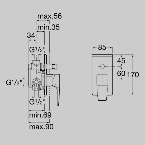 Внешняя часть смесителя Roca Thesis 5A0650C00