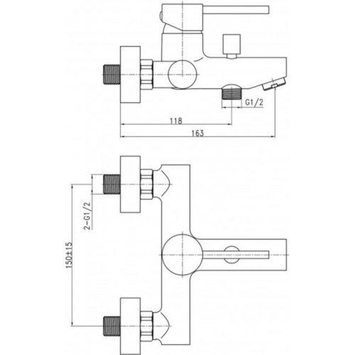 Смеситель для ванны Qtap (Чехия) Spring CRM-006