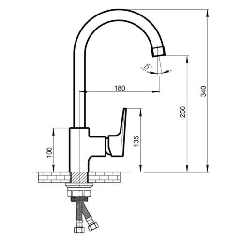 Кухонный смеситель Qtap (Чехия) Spring CRM-007