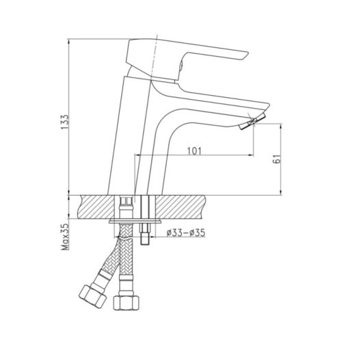 Смеситель для раковин Qtap (Чехия) Tenso CRM-001