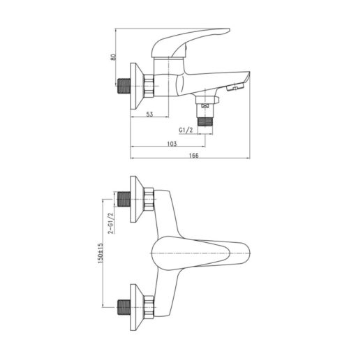 Смеситель для ванны Q-tap Eventi-006