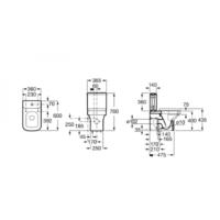 Бачок для унитаза Roca DAMA-N A341784000