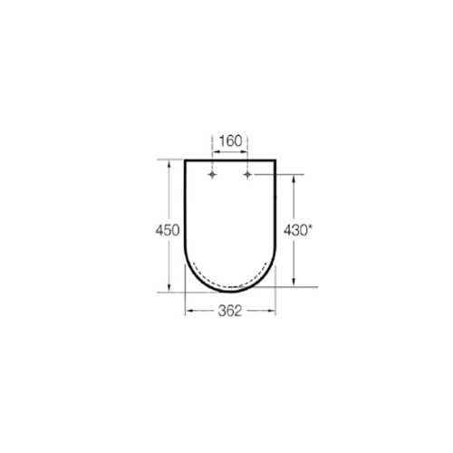 Крышка для унитаза Roca Meridian-N Compacto A8012AC004