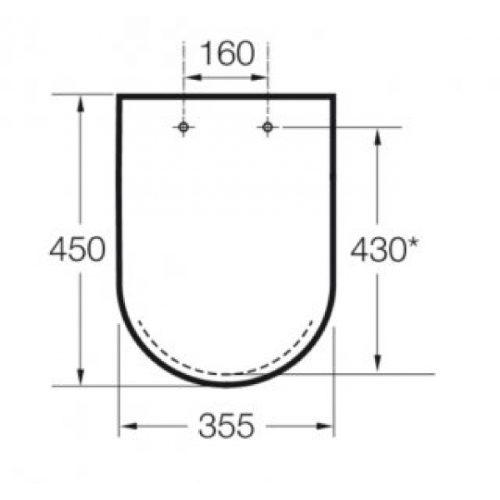 Крышка для унитаза Roca DAMA-N A801782004