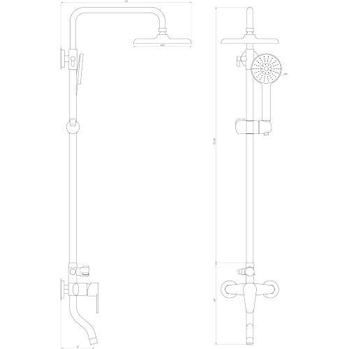 Душевая система DOMINO DS-0031