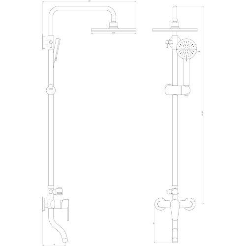 Душевая система DOMINO DS-0034