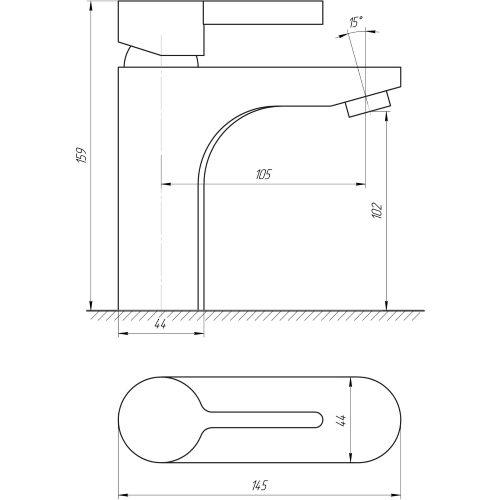 Смеситель для раковины GLOBUS LUX Lazer DS-007-401