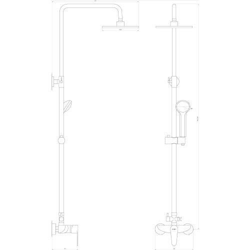 Душевая система DOMINO-TORINO DS-TO-004