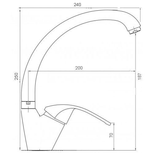Смеситель кухонный Globus Lux Caprice GLCA-0203S