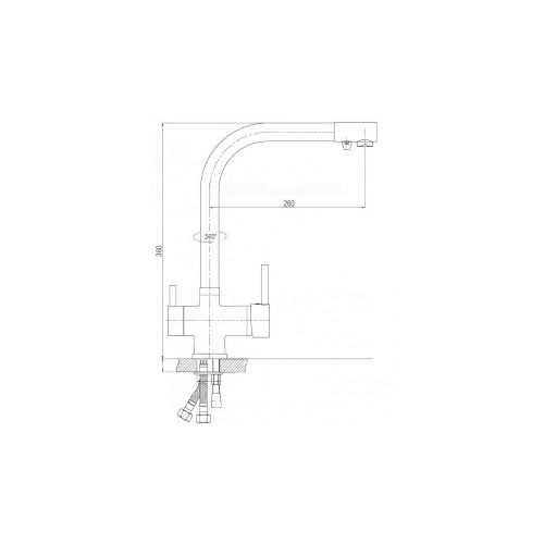 Смеситель кухонный Globus Lux LAZER GLLR-0100 StSTEEL