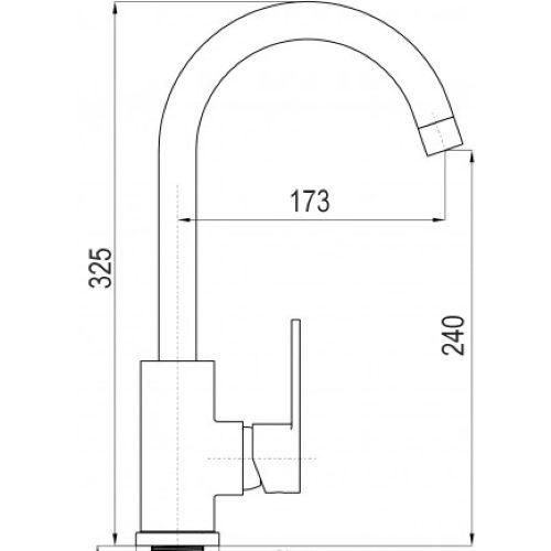 Смеситель для кухни Globus Lux LAZER GLLR-0103 S WHITE