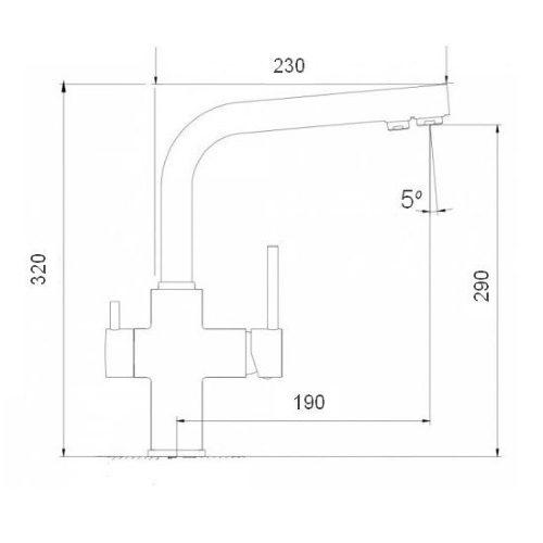 Смеситель кухонный Globus Lux LAZER GLLR-0888 BRONZE
