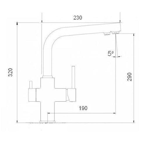 Смеситель кухонный Globus Lux LAZER GLLR-0888 COLORADO
