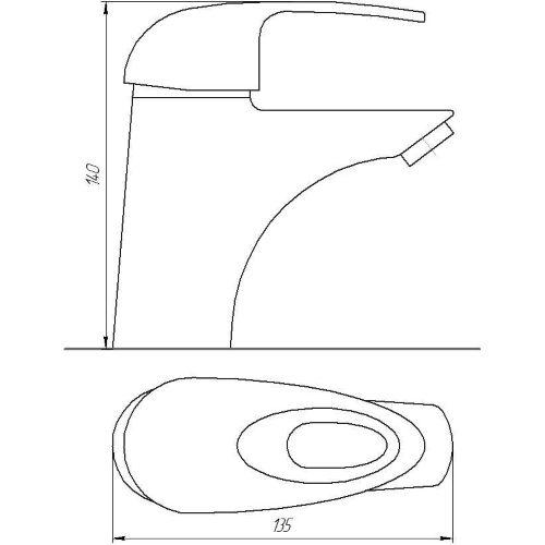 Смеситель для раковины Globus Lux SMART GLSM-0101