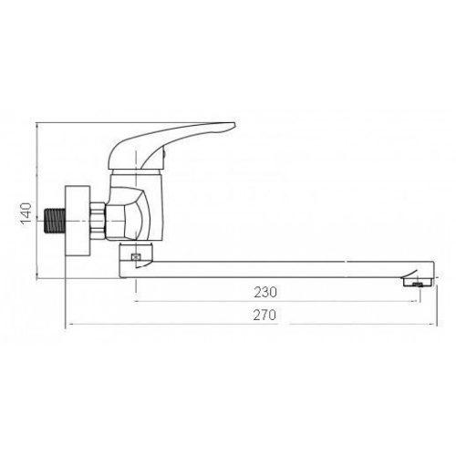 Смеситель кухонный Globus-Lux SENA GS-104