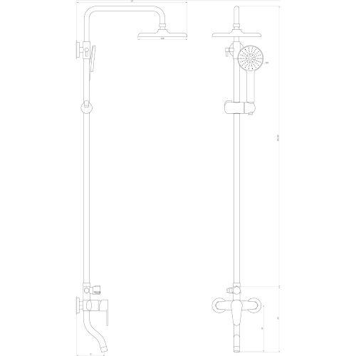 Душевая система DOMINO VAN DS-0031