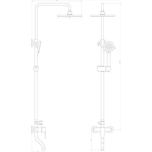 Душевая система DOMINO VAN DS-0034