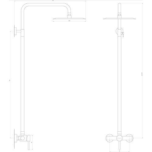 Душевая система GLOBUS LUX S-SH-105