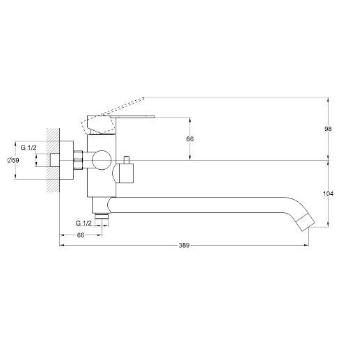 Смеситель для ванны ZEGOR Trоya SAP7-A090