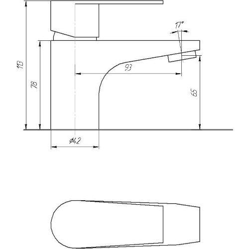 Смеситель для раковины Globus Lux SHA-101M