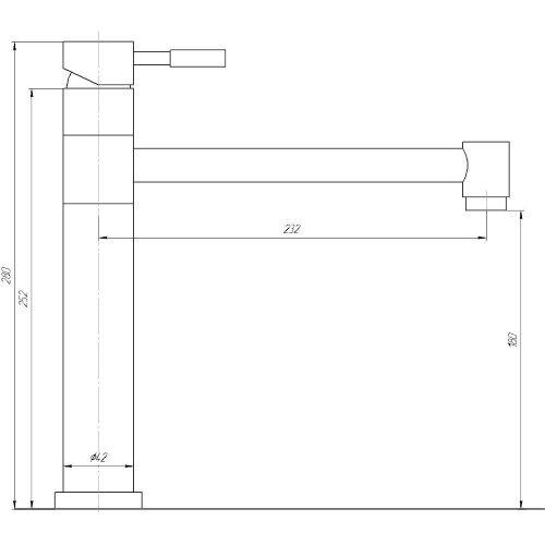 Смеситель кухонный Globus Lux SHG-203P