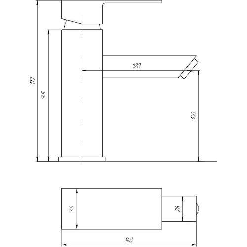 Смеситель для раковины Globus Lux SHK-101M