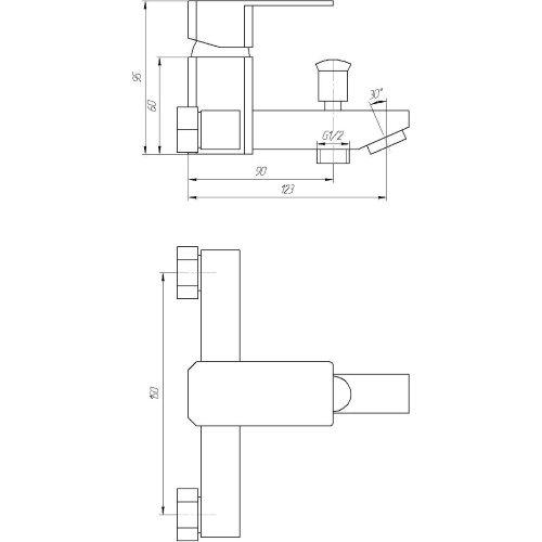 Смеситель для душа Globus Lux SHK-102-M