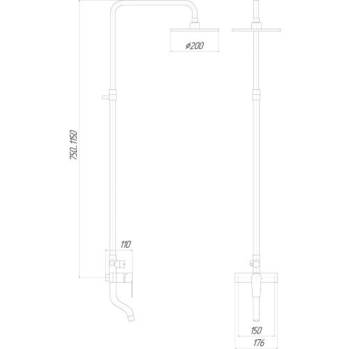 Душевая система Globus Lux SHM-0050-M
