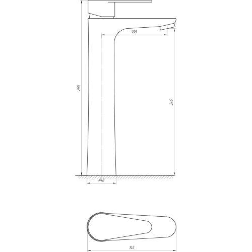 Смеситель для раковины Globus Lux SM-201