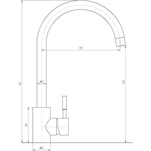 Смеситель кухонный Globus Lux SUG-103S-C