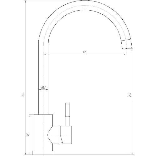 Смеситель кухонный Globus Lux SUG-203S-M