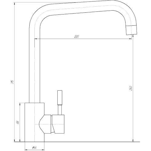 Смеситель кухонный Globus Lux SUS-203L-M