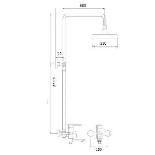 Душевая система GLOBUS LUX STYLE VAN-DS0026