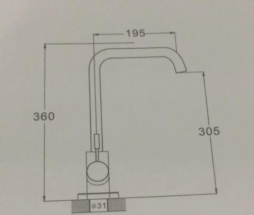 Смеситель для кухни Zegоr TROYA GAP4-B090