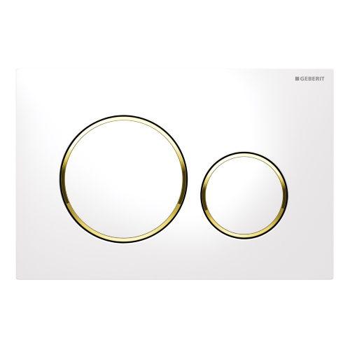 Кнопка смыва Geberit Sigma 20 115.882.KK.1 белая с золотом