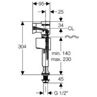 Впускной клапан Geberit ImpulsBasic340 136.726.00.1 1/2″