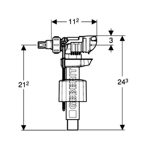 Впускной клапан Geberit ImpulsBasic380 1/2″ и 3/8″ 281.004.00.1