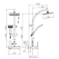 Душевая система KFA Armatura Orion + Смеситель korund 4006-910-00