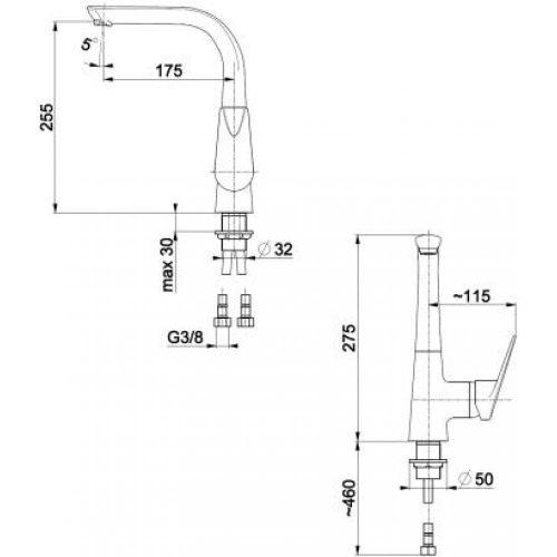 Смеситель для кухни KFA Armatura Topaz 4013-915-00