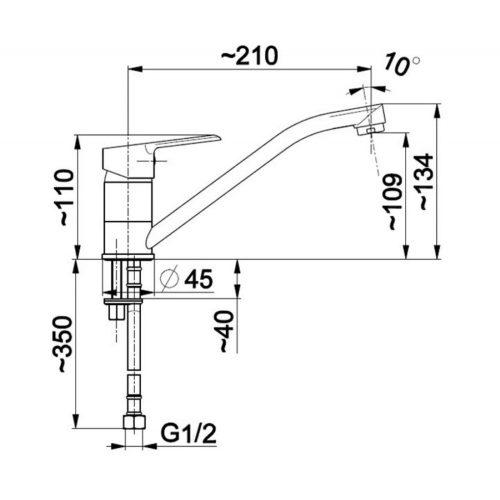 Смеситель для раковины KFA Armatura Sofit 5112-914-00